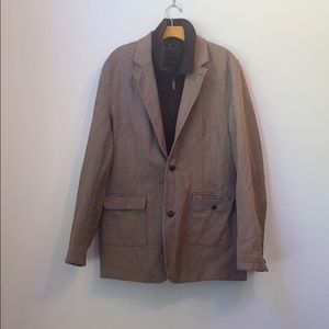 MARC ECKO SOLID BROWN JACKET SIZE XL